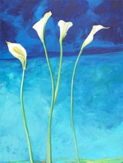 Ocean Calla Lilies