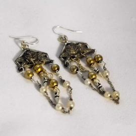 earrings-silverrose-pearlchain