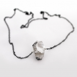"28"" Rutilated Quartz Chain Necklace"