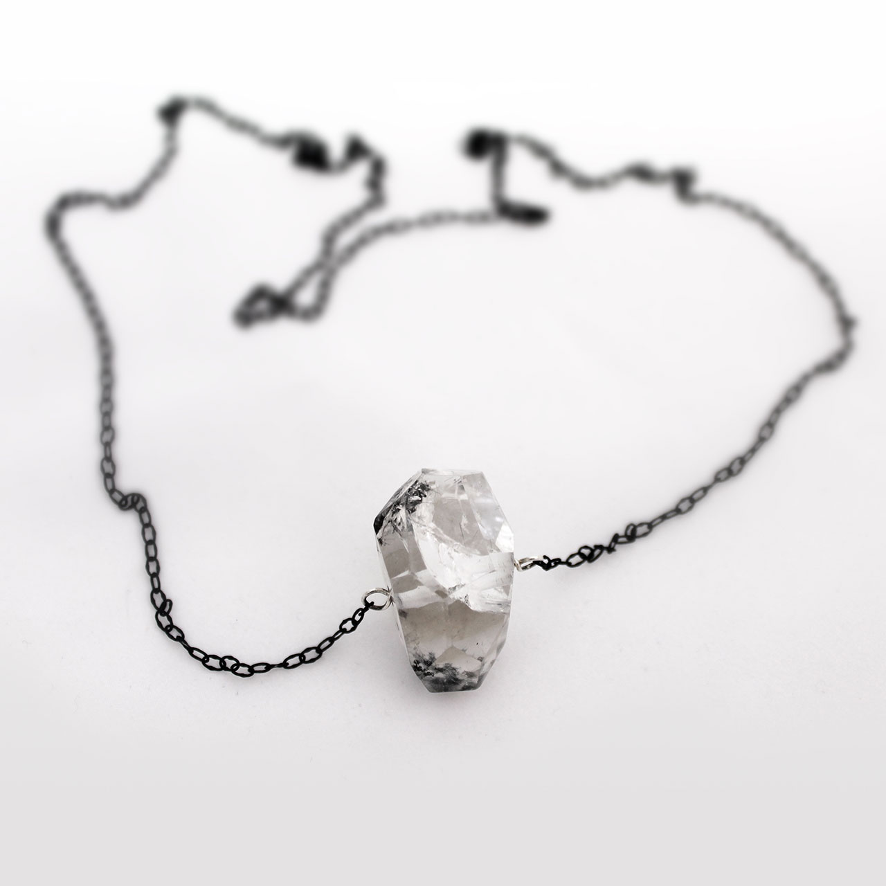 "28"" Rutilated Quartz Chain Necklace"