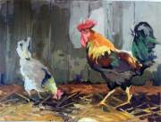 The Hen and Rooster