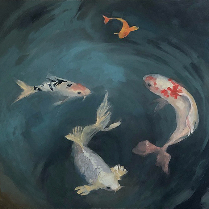 Painting of Koi