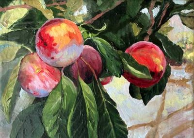 Oil Painting Plums
