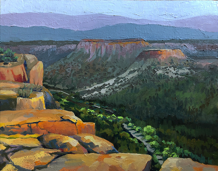 Landscape Painting Los Alamos New Mexico
