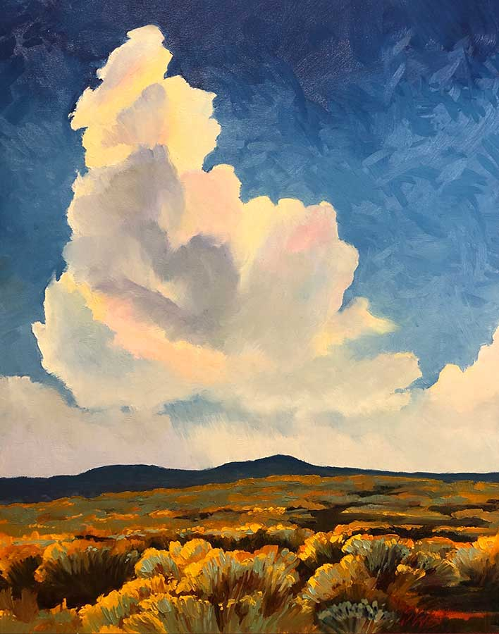 Clouds Over Chamisa Painting