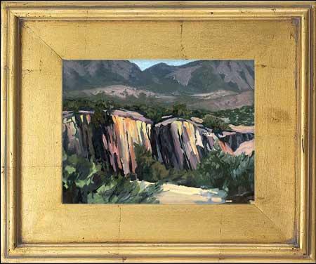 Columnar Basalt Landscape Painting