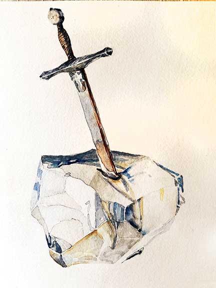 Excalibur-sword-in-Crystal