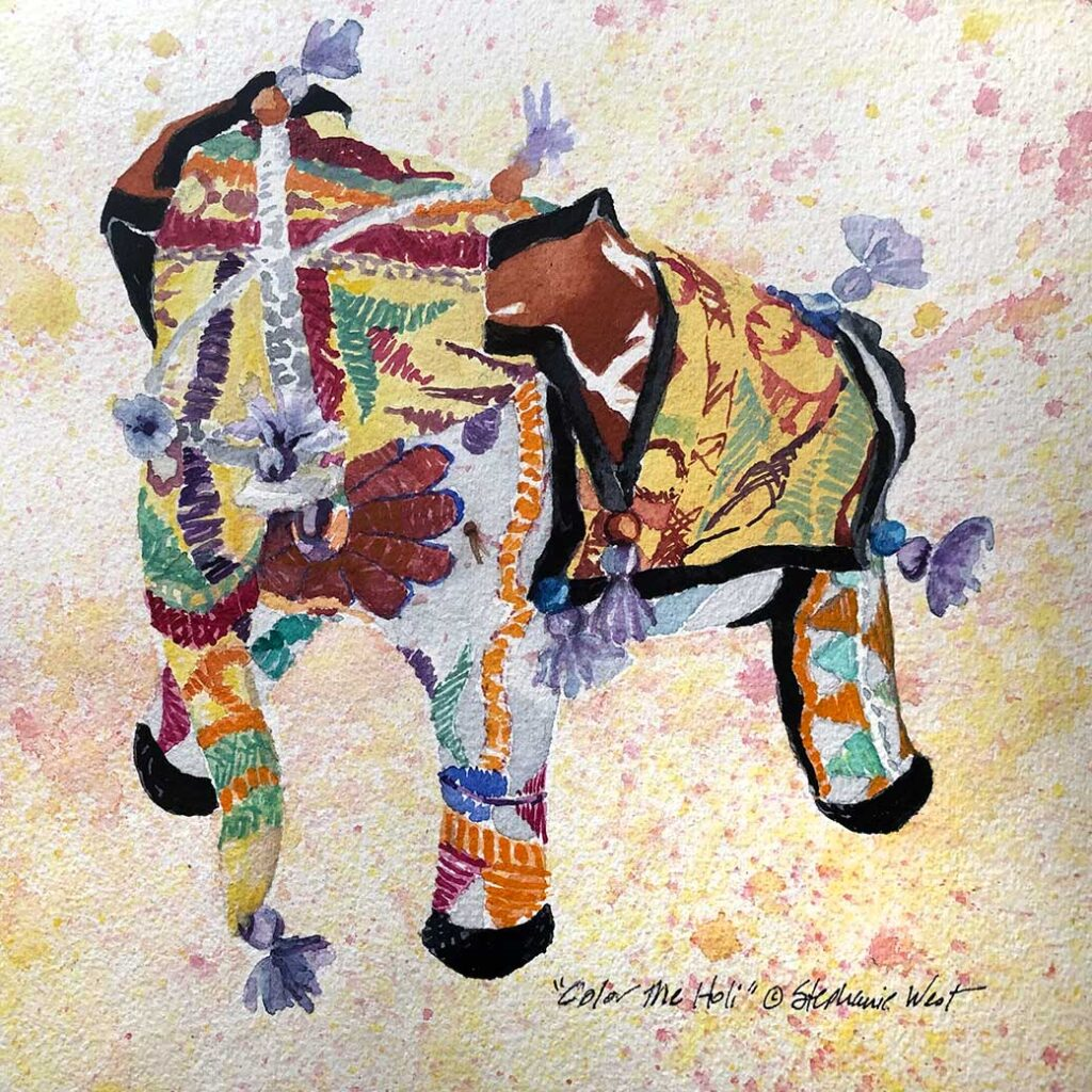 Painting of Decorated Elephant