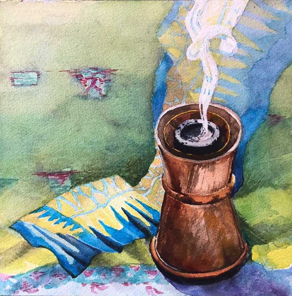 Painting of Incense Burner